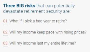 The Three Big Risks to Retirement